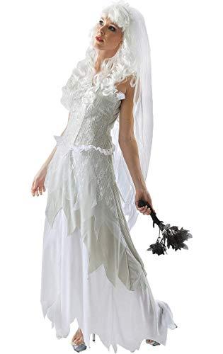 aften Halloween Braut Karneval Fasching Kostüm Extra Large ()