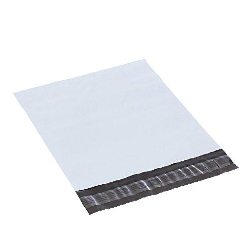 XSY Versandtaschen Plastik Beutel Weiß Versandbeutel Polyethylen Plastikversandbeutel 110 - 305mm (W) x 180 - 400mm (L) Multi Größen 190 x 280mm+45mm - 50 Stück