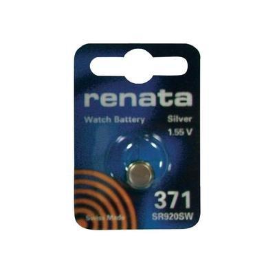 Pile bouton 371 oxyde d'argent 1.55 V 35 mAh Renata 371.CU MF
