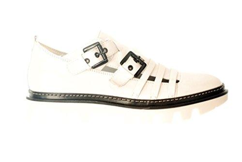 Sneaker RIPA Fondo Gomma, Tomaia Pelle Bianco