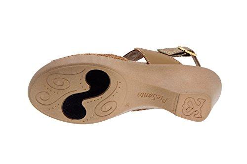 Piesanto confort Femme Chaussures-modèle 4853 Sandales en cuir amovible chaussure confortable large Cava/Cuero
