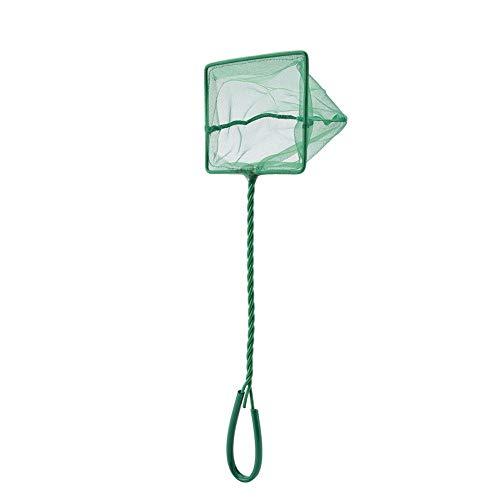 Tragbare grüne Quadrat Nylon Angeln Dip Net Twisted Grip Kescher Schwimmobjekte saubere Werkzeuge für Fishbowl Aquarium (8寸) -
