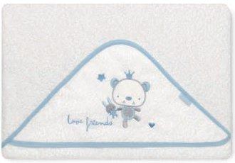 pirulos 00712313–maxicapa Motiv Love Friends, 100x 100cm, Farbe Weiß und Blau