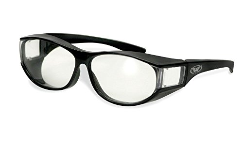 Global Vision Escort Safety Fitover Glasses Clear Lenses M with i*sunglasses Pouch