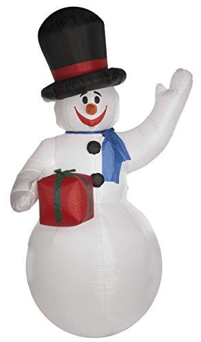 Bright Ideas aufblasbare Schneemann 3M (mit einem Dreistiftstecker oder Transformator - Adapter benötigt) (Weiße Van Kostüm)