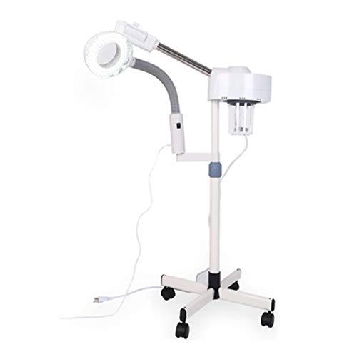 2 en 1 Vapor Facial Vaporizador de Nanómetro 5X LED Facial Máquina de Vapor Multifuncional Profesional Hidratación y Cuidado de la Piel para Belleza Spa y Salon