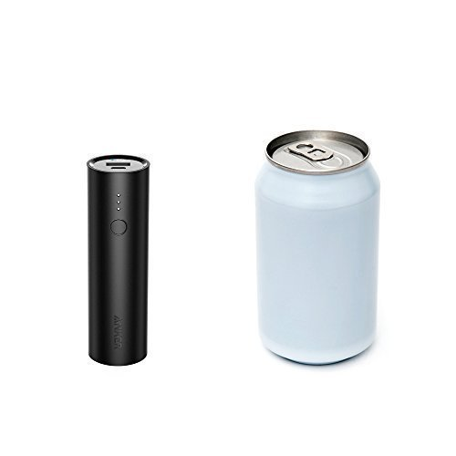 Anker PowerCore 5000mAh Powerbank (Ultra-kompakt, PowerIQ, geeignet für iPhones, iPads und Android Smartphones) schwarz -