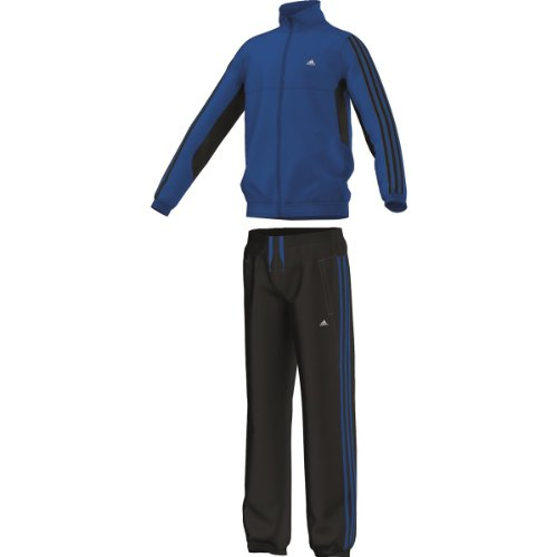 Adidas Tiberio survtement Europäischer 11/12 Jahre Blau - Blubea/noir (Hose Gestickte Voll Mens)