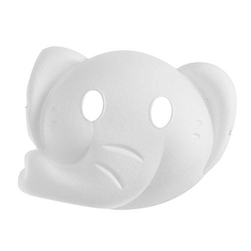BESTOYARD Cosplay Partei Maske Elefant Maske Malerei Maske Vollgesichts Kostüm Zellstoff Leere Weiße Maske für DIY Farbe