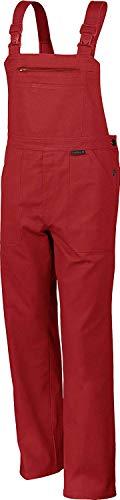 Qualitex Arbeits-Latzhose BW 270 - Größe: 60 - rot (Mechaniker Kostüm Frauen)