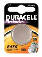 Duracell Battery Electronics 2430 Lithium Coin Cell (CR2430) 3V Pack of 1