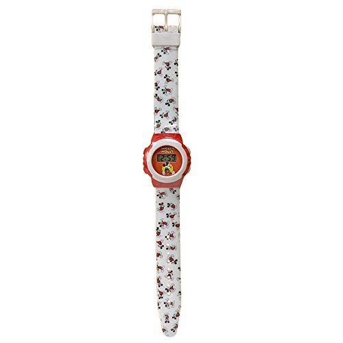 Reloj de Pulsera Digital para niños Disney Mickey Mouse 1647 Blanco-Rojo -