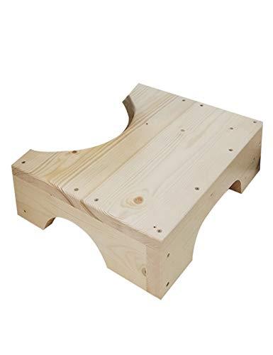 PIPIXIA 100% Massivholz WC Hocker Schritt Hocker-Fuß Hocker Küchenhocker Bett Schritte Kleine Trittleiter Bad Hocker (größe : Height: 12CM)