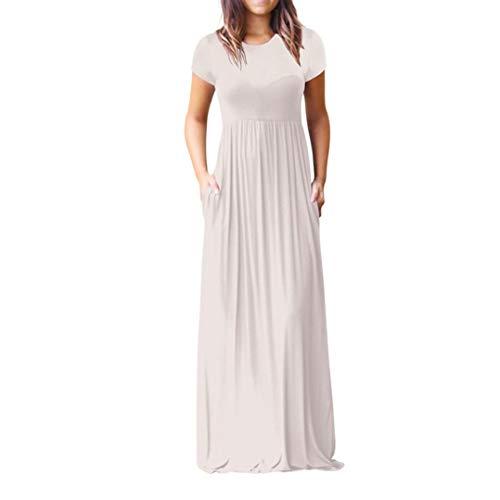Kanpola Damen Maxi Kleider, Kanpola Frauen Mode Sommer O Neck Langes Boho Abend Partei Strand Kleid...
