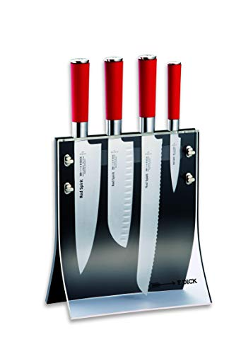 Dick Messerblock 4 Knives 5-teilig Red Spirit (Kochmesser, Santoku Messer, Brotmesser, Officemesser) 8177200