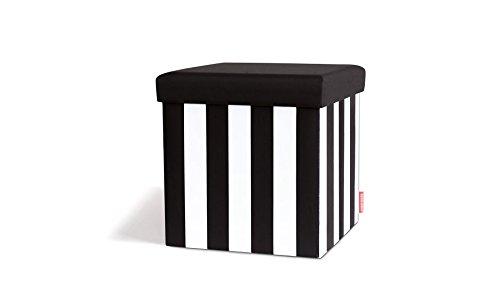 Remember sitting box sgabello contenitore black & white