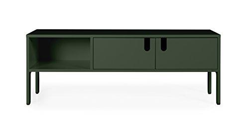 tenzo 8570-031 UNO Designer Banc TV 2 Portes, Vert, MDF Particules ép. 19 et 16 mm Panneau arrière laqué. Poignées en matière Plastique, 50 x 137 x 40 (HxLxP)