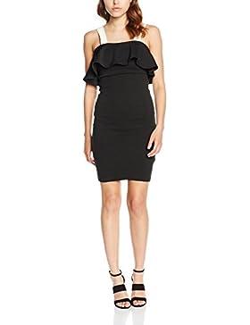 New Look Damen Kleid Colour Block Frill