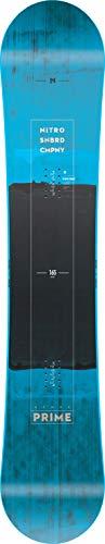 Nitro Snowboards Prime Blue '19 - Tavola da Snowboard da Uomo, Adatta a Tutti i Principianti, per Piedi Grandi, Uomo, 1191-830380, Blu, 156