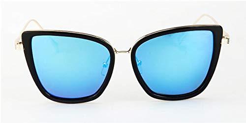 ZRTYJ Sonnenbrillen Polaroid Sonnenbrillen Damen Cat Eye Vintage Polarized Sonnenbrille Herren Oversized Mirror