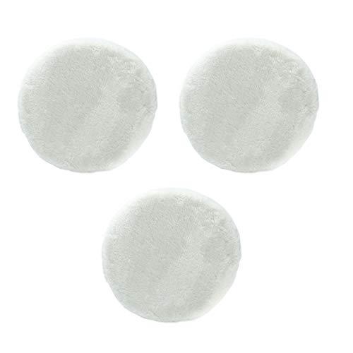 Unviersal Polierhauben Set mit Gummiband (3x Synthetikfellhauben) für Auto Poliermaschinen mit 25 cm, 250 mm Polierteller Durchmesser