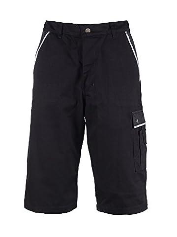 TMG® - Short de travail résistant - style short cargo - homme - noir (W28 / EU44)