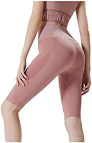 Zingther Women's High Waist Compression Leggings Athletic Yoga Shorts with Butt Lift and Tummy Con