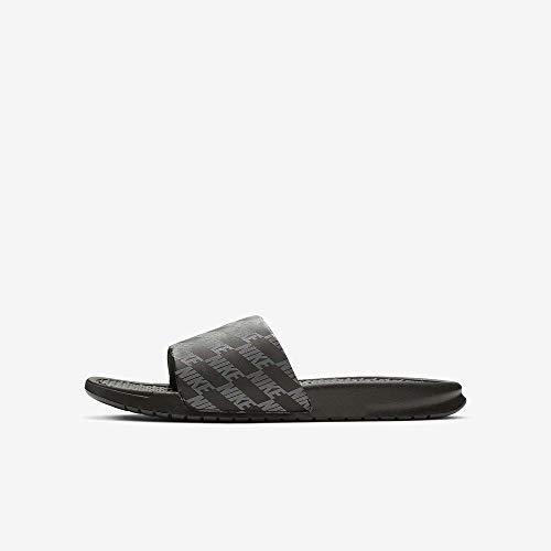 Nike Benassi, Zapatos Playa Piscina Hombre, Dark Grey/Black