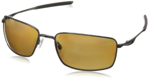 Oakley Herren Sonnenbrille Square Wire Grau (Gunmetal/Tungsten Iridium Polarized), 60
