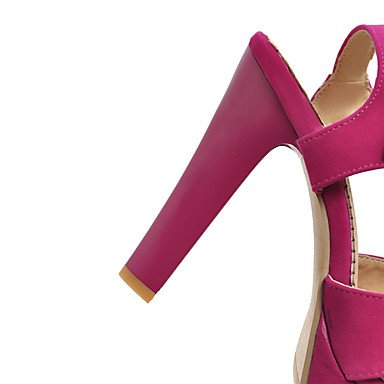 LvYuan Da donna-Sandali-Formale Casual-Altro-Quadrato-Felpato-Nero Rosso Tessuto almond Red