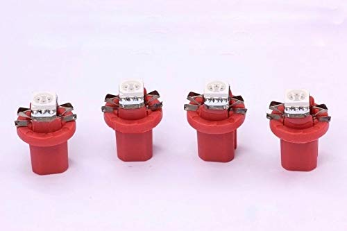 4x rote high Power B8.5D SMD-LED Tachobeleuchtung Umbauset Plug and Play