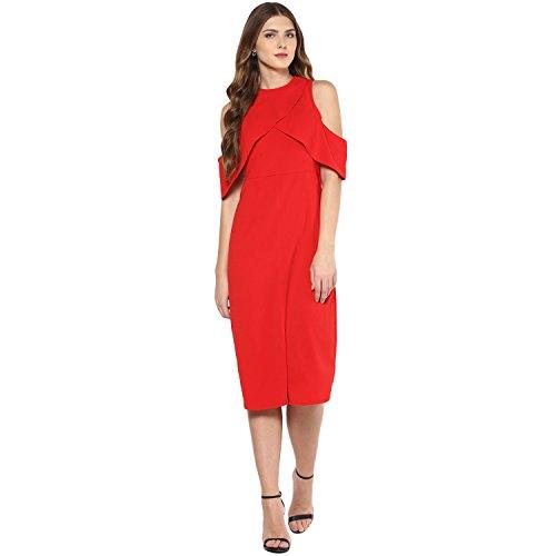 Femella Fashion's Red Wiggle Midi Dress (DS-341308-1400-RED-M )