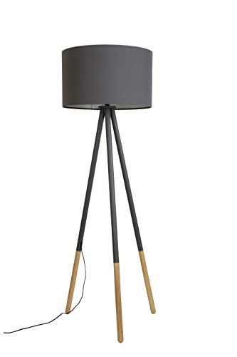 Zuiver FLOOR LAMP HIGHLAND DARK GREY, Metall, E27