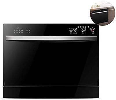 Atten Encimera portátil lavavajillas, cocina casera Embedded Lavavajillas, 70 ° C Limpieza, limpieza rápida Lavavajillas empotrable de Calificación, 6 fija, Negro