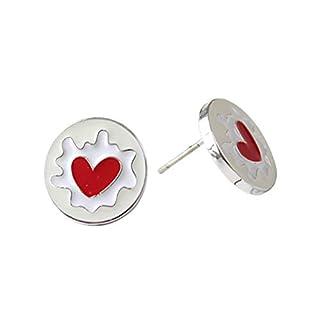 Aikesi Earrings Love Shape Creative Earring Christmas Birthday Gift Suitable for Women1Pair(1.4*1.4cm)