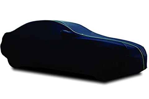 Finition en velours doux TPH Microlite Coupe personnalisée semi-outdoor Noir pour Voiture avec passepoil Vert pour Bentley Continental