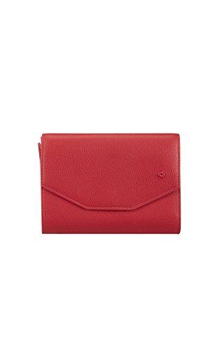 SAMSONITE Satiny SLG - Wallet for 12 Credit Cards + Zip Extension Medium Kreditkartenhülle, 0 Liter, Scarlet Red -