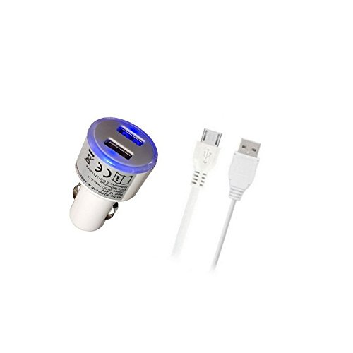 GiXa Technology 2100mAh / 2.1A Weiß + V8 USB Micro Ladekabel, Universal...