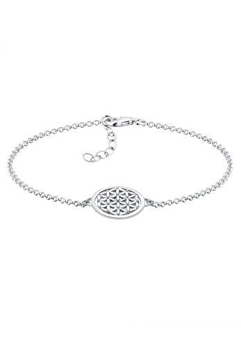 Elli Pulsera para Mujer, Plata de ley 925, diseño de flor de...