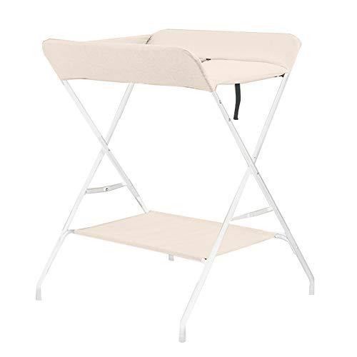 Tables à langer Table De Soins pour Bébé Table De Massage pour Nouveau-né Table Tactile pour Lit De Bébé Pliable Multifonction Beige