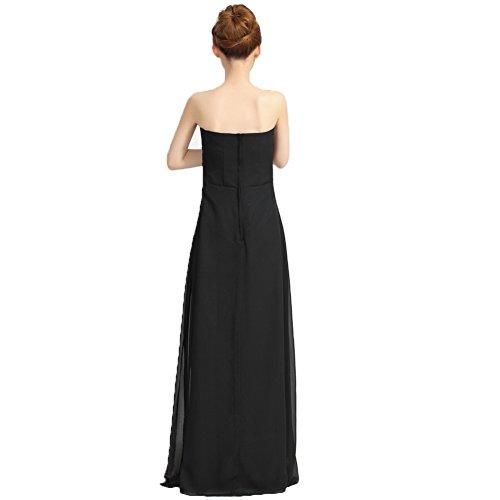 June's Young Femmes Robe soirée cocktail de demoiselle d'honneur Bal Party Noir