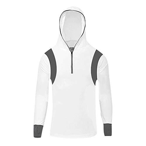Binggong Fishing Suit Outdoor-Anzug mit Kapuze atmungsaktiv und schnell trocknend, Anti-Moskito-Sonnenschutzkleidung Hoodie Ultradünne Windjacke Sweatershirt Longshirt Kapuzen-parka Stretch