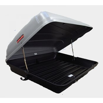Autoplas 350 Capacity Litre Roof Box - Silver Top With Black Base Roof Box