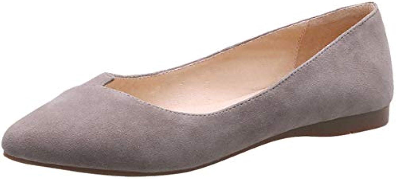 KOKQSX-Chers des Chaussures Plates Pointu Cuir à l'aise glacé Wild glacé l'aise Petite Bouche Seul Les Chaussures. 052b83