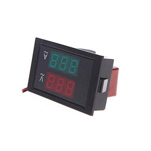 Bomcomi DL85-2041 Digital AC 80-300V 50A Amperemeter Voltmeter LED Panel Meter AC Dual-Anzeige Amperemeter Spannungsprüfer (Digital Ac Voltmeter)