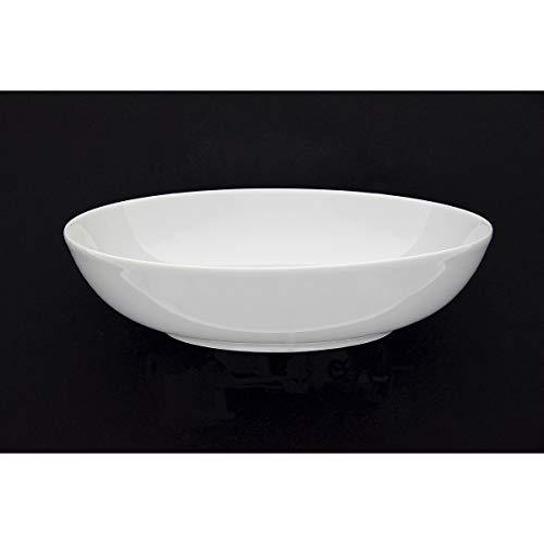 PORCELAINE FINE Assiette calotte 'blanc' 20,5 cm (lot de 6) - LIBERA2000006