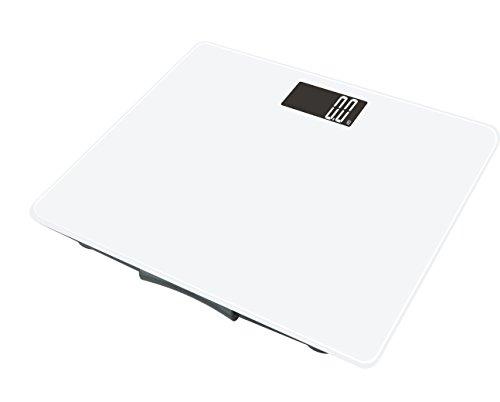 LBS Medical Elektronische Personenwaage aus Glas, 150°kg/100°g, Weiß
