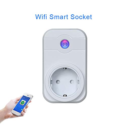 GOTH Perhk Smart Ferngesteuerte Stecker Intelligente WiFi Steckdose Kompatibel mit Alexa [Echo, Echo Dot]&Google Home für IOS/Android System Fernbedienungsschalter für Haus Büro