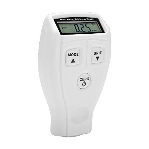 Mini Lackdickenmessgerät Professionelle Digitale Beschichtung Meter Gauge LCD Display Farbe Messen Tester Werkzeug Instrumente GM200 / GM200A(Weiß) -