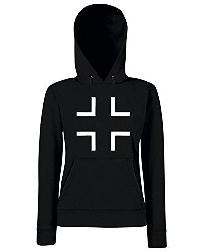 T-Shirtshock - Sweats a capuche Femme OLDENG00508 germany balkenkreuz Noir